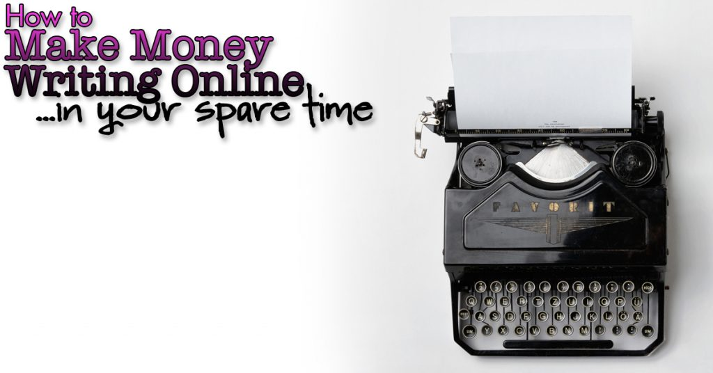 Earn online by writing