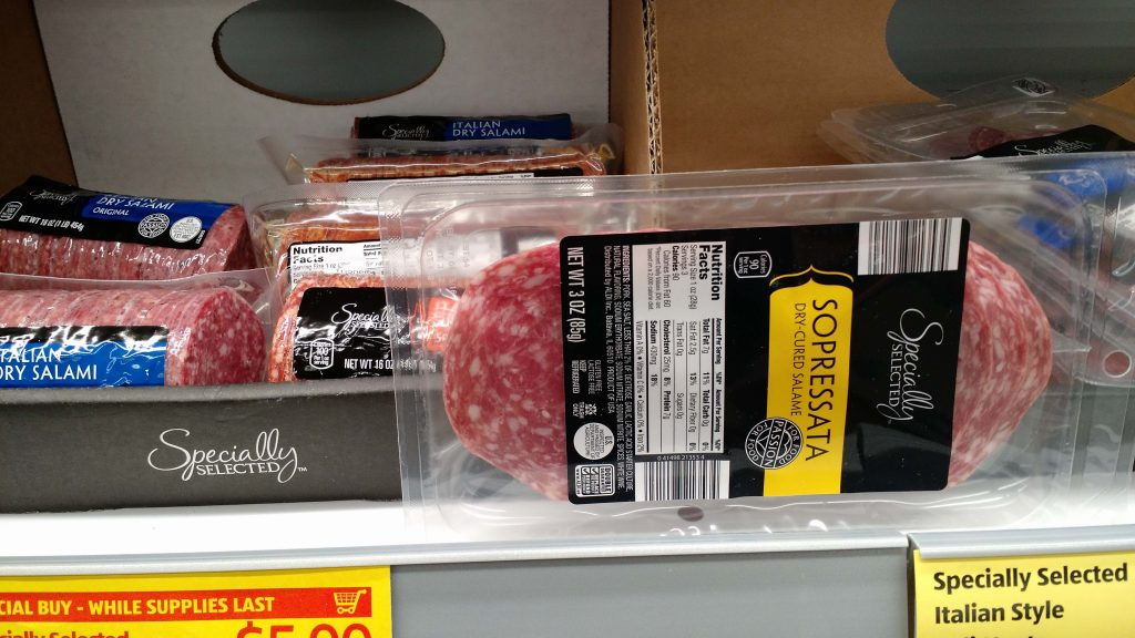 Meats and cheeses at ALDI