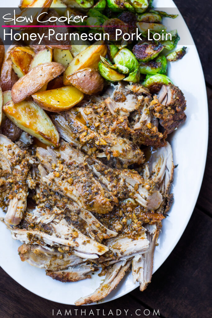 This Slow Cooker Honey Parmesan Pork recipe is absolutely FANTASTIC!