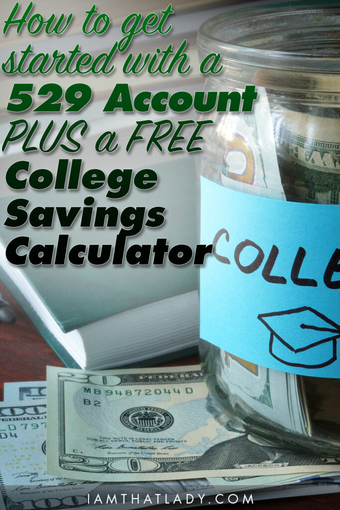 Wondering how to get started saving for your kids' College? I want to show you how easy 529 accounts can be PLUS a free calculator!