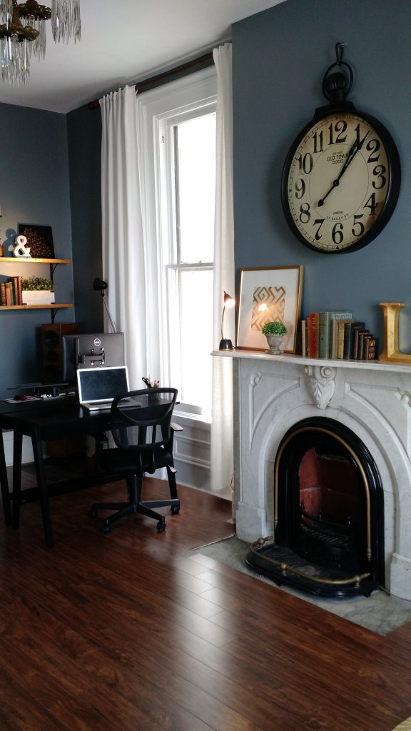 Clock Fireplace Office
