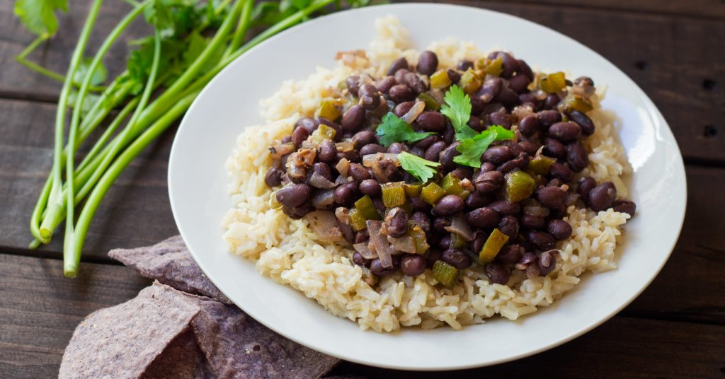 ... balanced, healthy and quick meal – thanks to canned black beans