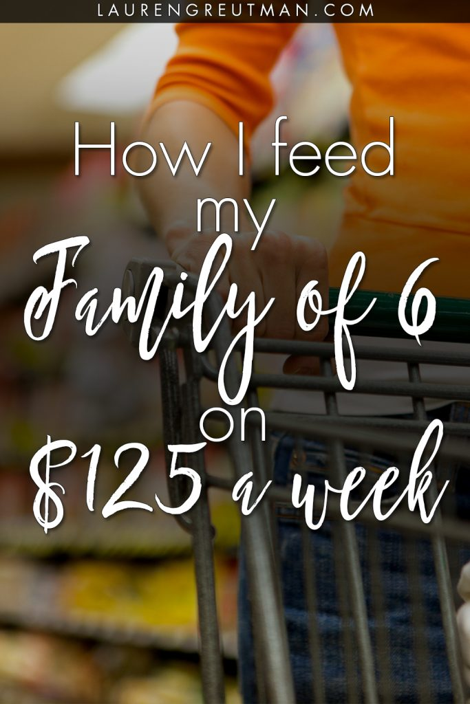 grocery shop on a budget