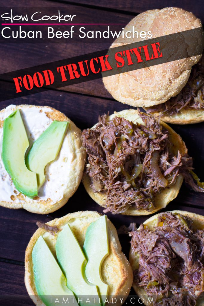 Food truck style cuban beef sandwiches lauren greutman these slow cooker cuban beef sandwiches will taste like you just got them from the best forumfinder Choice Image