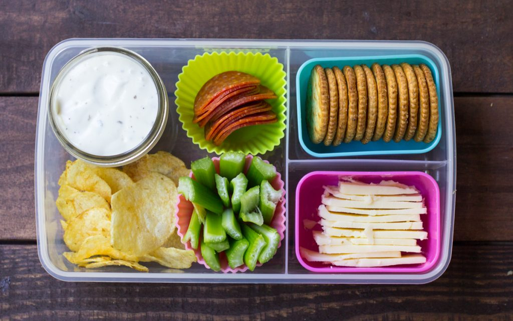7 lunch box ideas cheese crackers pepperoni