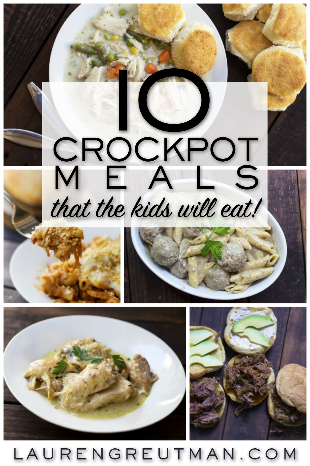 Here's an AWESOME list of 10 easy and amazing crockpot meals that your kids will actually eat!