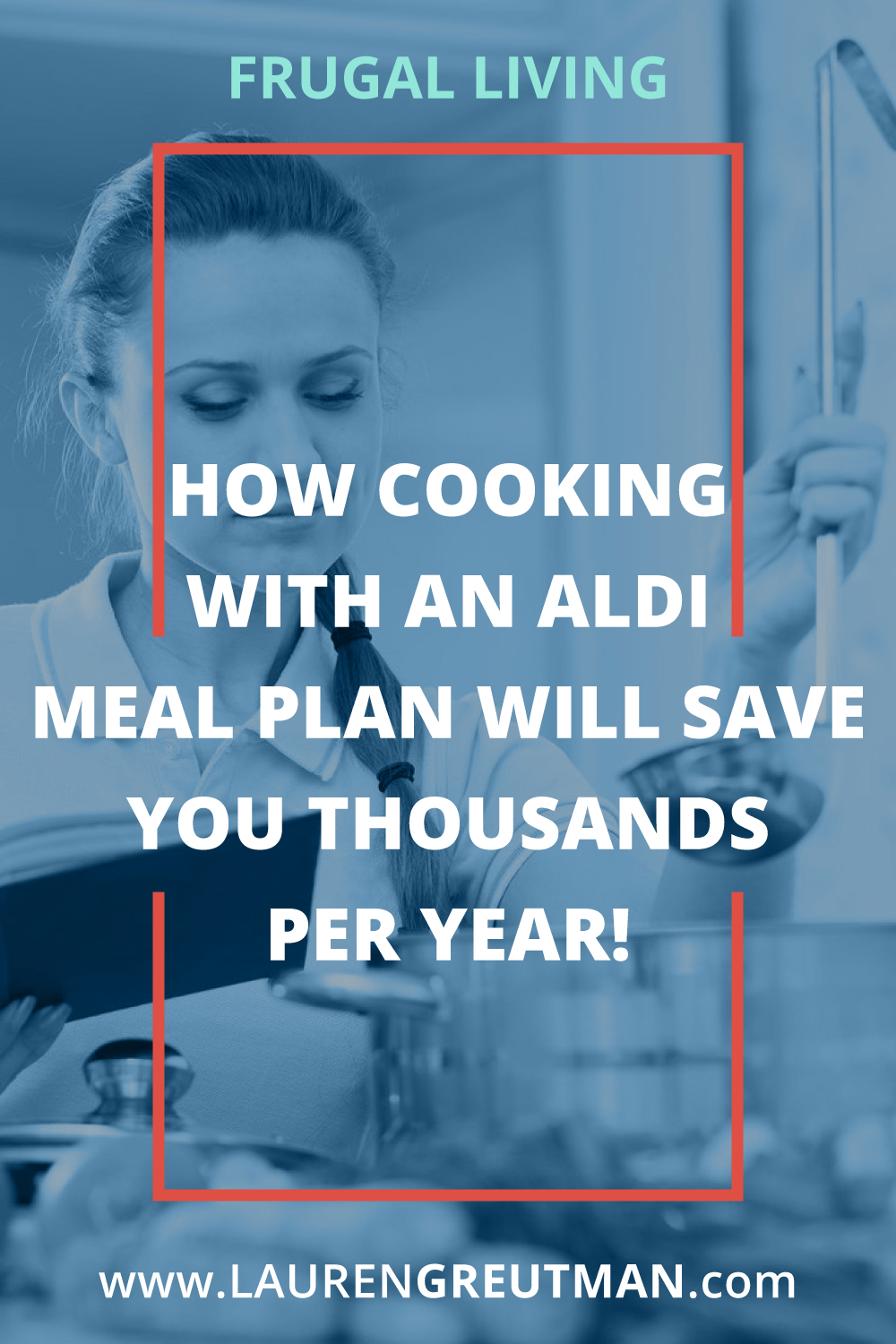 Take out 20 freezer bags, then throw food from ALDI in them that only cost you $150.  Then throw in the freezer. That is how simple an ALDI meal plan is!