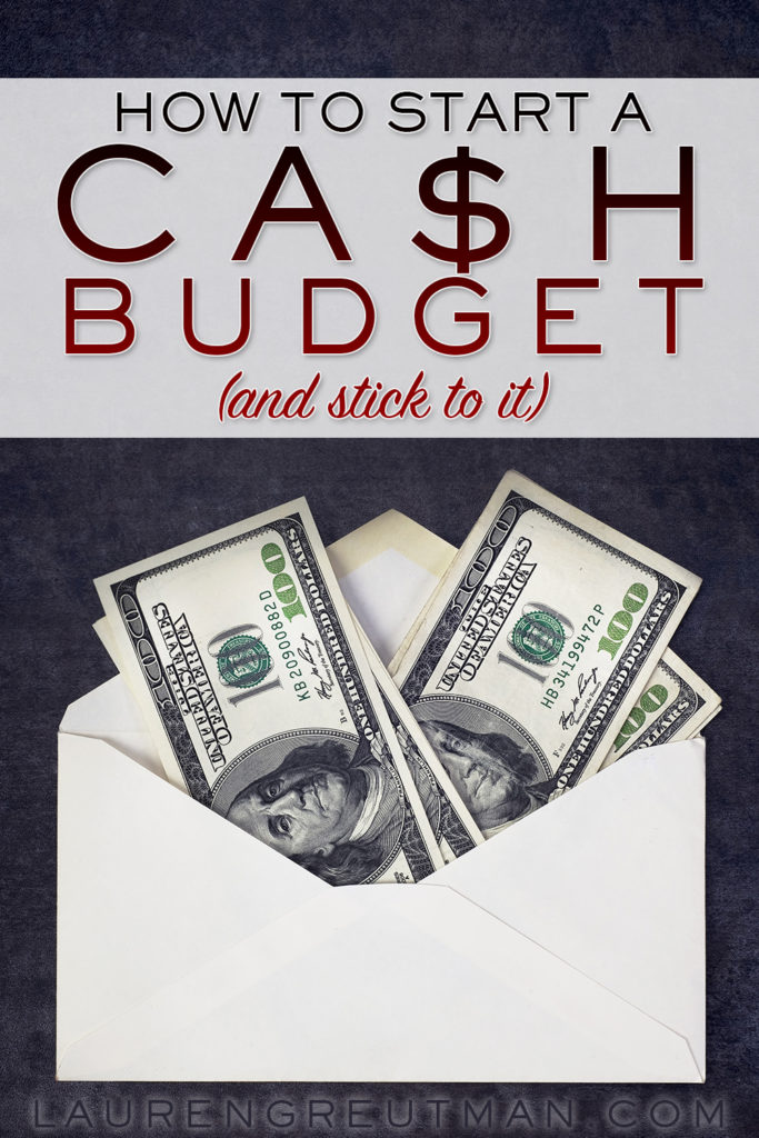 how to start a cash budget