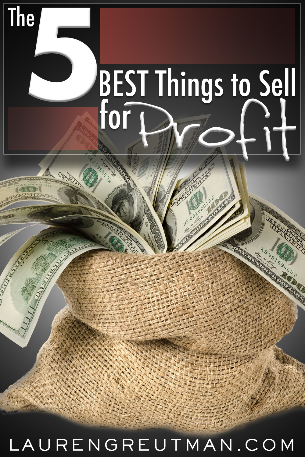 Are you looking to make some extra cash without getting another job? Here are 5 of the best things to sell to make money.
