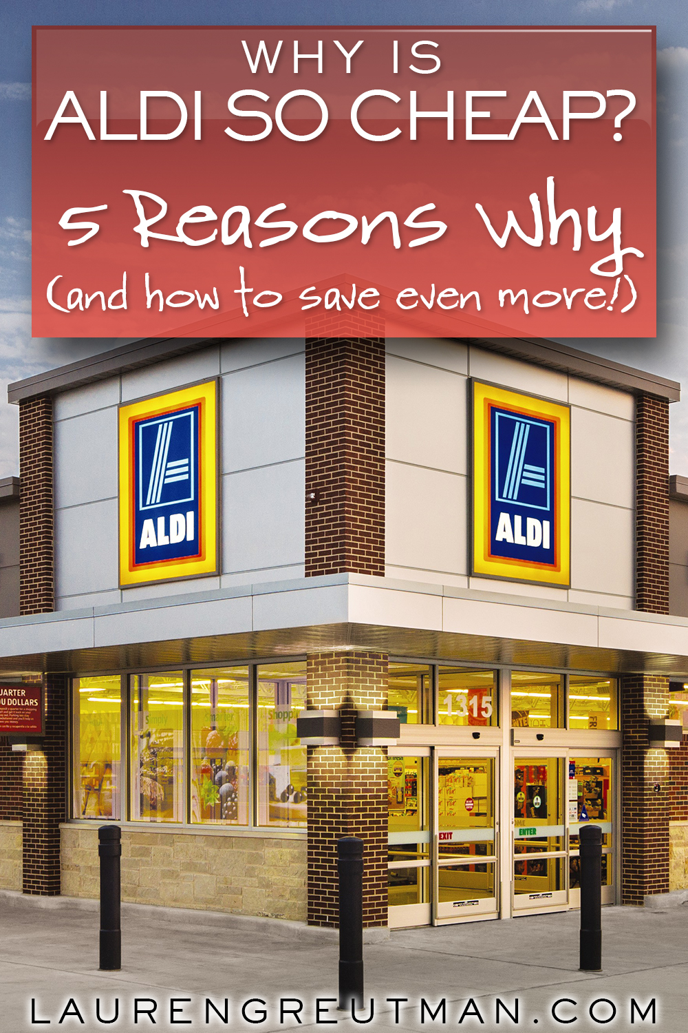 Ever wonder why ALDI is so cheap? Here are the 5 reasons why, and some of these will SHOCK you. Plus, how to save even more!
