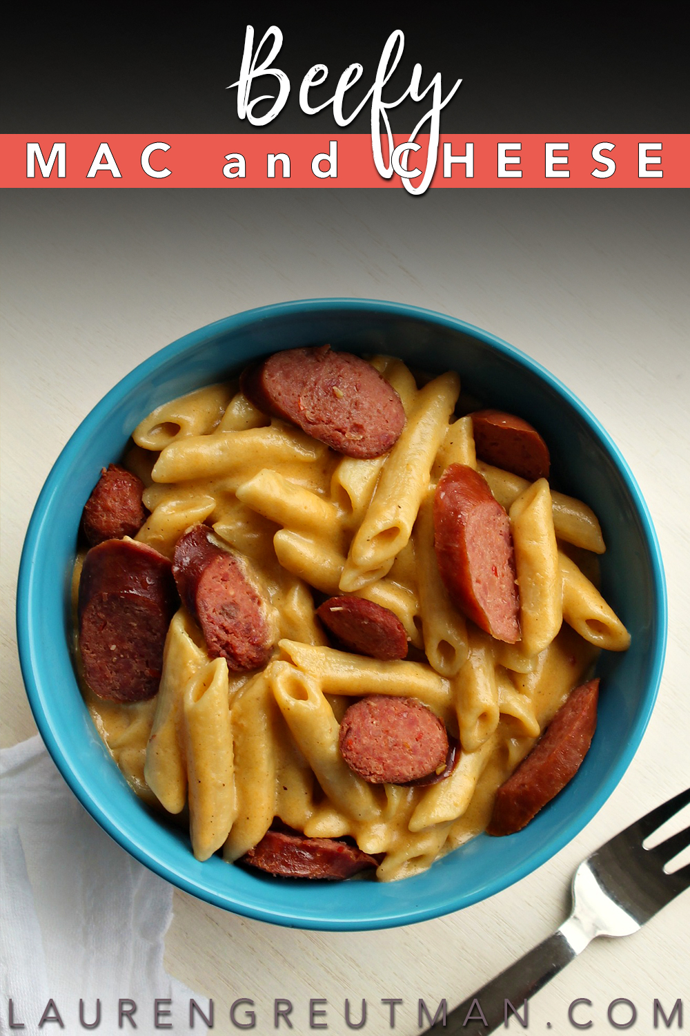 This Beefy Mac and Cheese recipe is easy to make, has no artificial flavors and the kids will absolutely LOVE this Recipe!