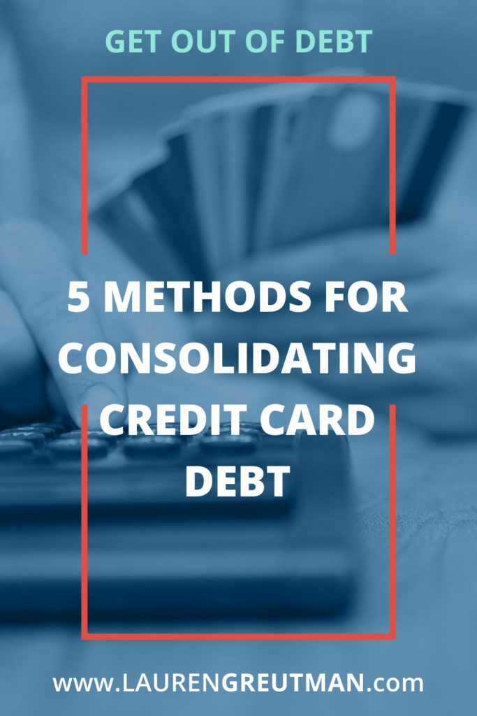 Help with consolidating credit card debt