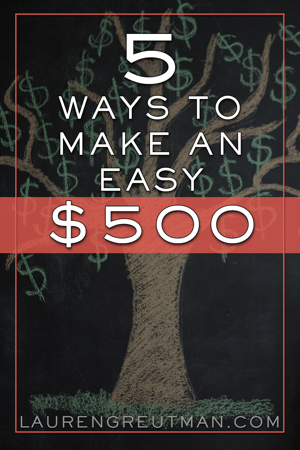 I think everyone is wondering how to make extra money on the side. I mean, who couldn't use some extra dough? Here are 5 ways you can make an extra $500.