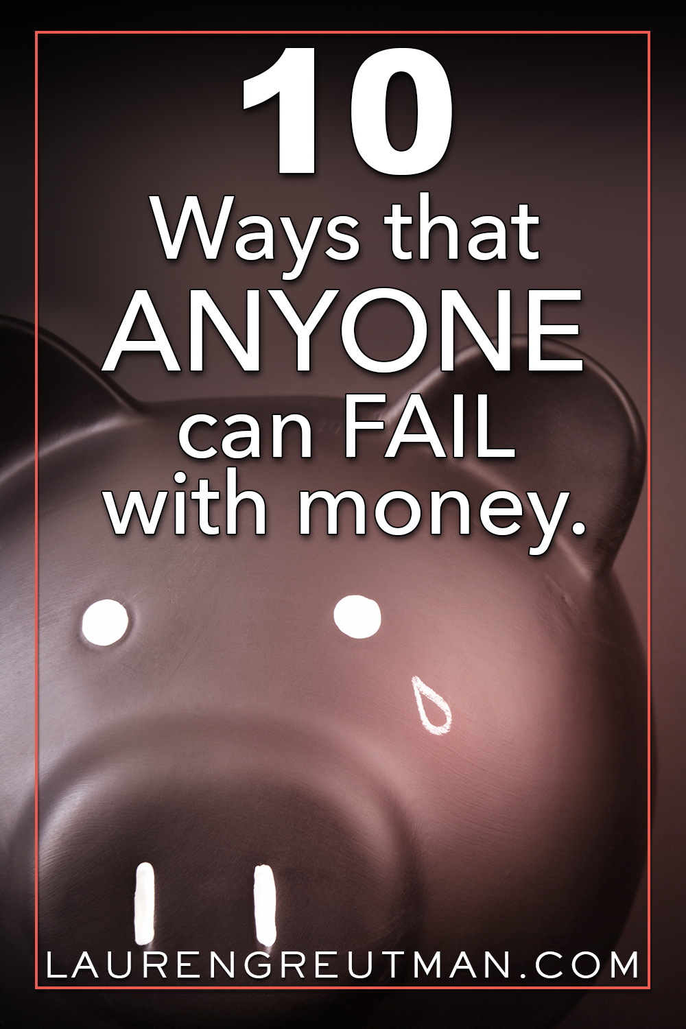 No matter how much or little you make, you could be guilty of Failing at Money in one of these 10 areas. Here are 10 ways ANYONE can Fail at money.