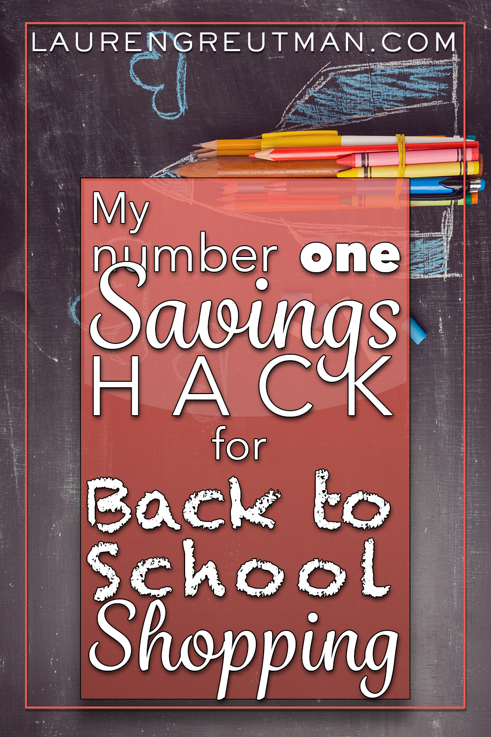 Are you wanting to spend less money on school supplies this year?  Here is my #1 savings hack for back to school shopping.