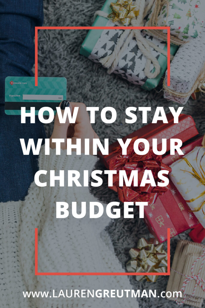 Stay within your Christmas Budget