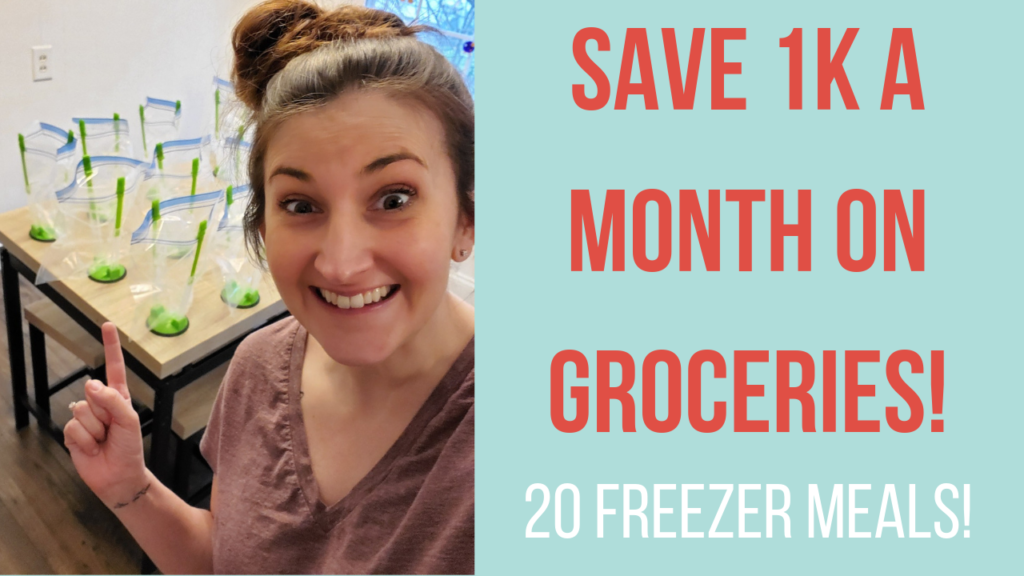 Save 1k a month on grocers with freezer meals.